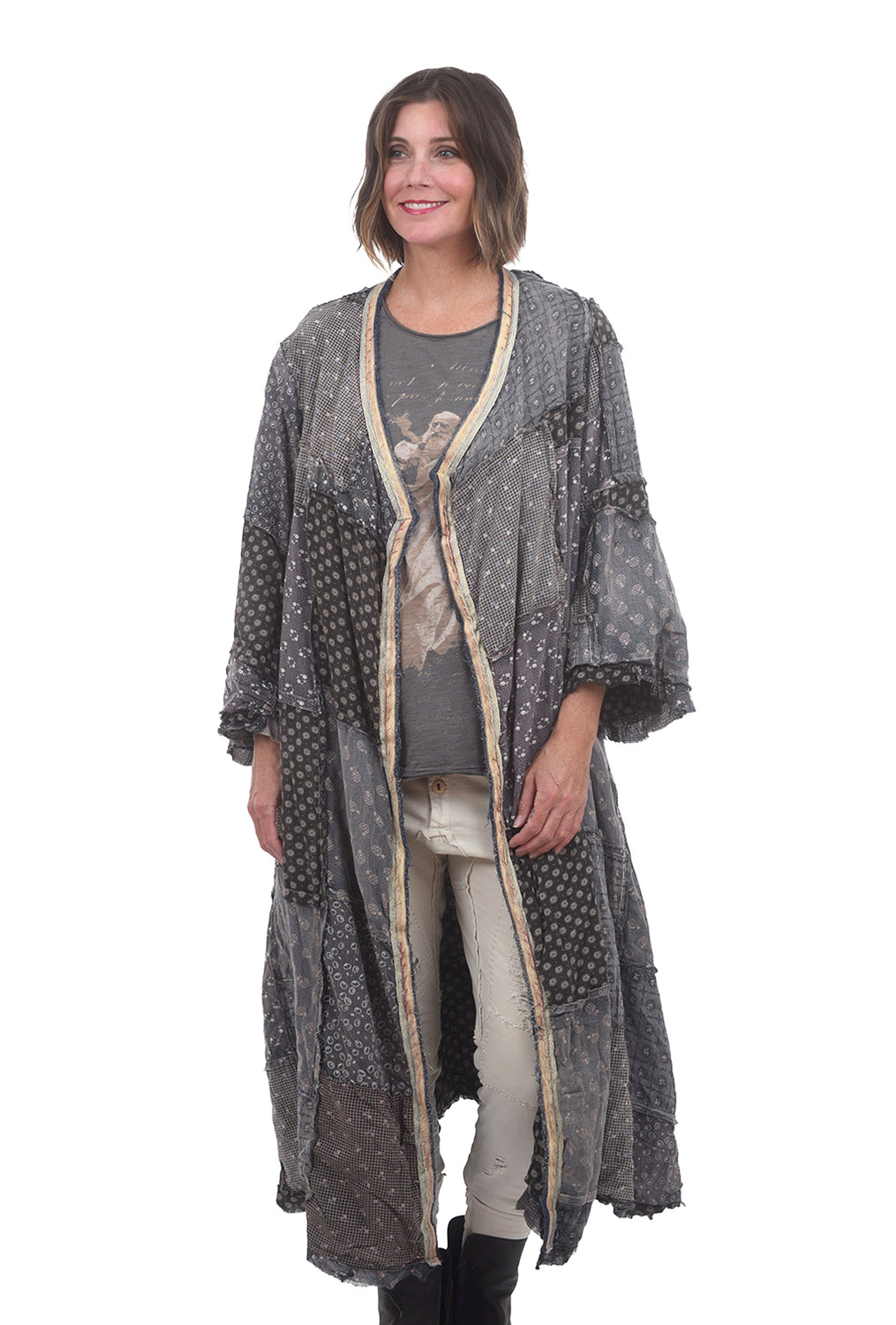 Magnolia Pearl Cotton Emporium Coat, Etty & Molly Print One Size Gray