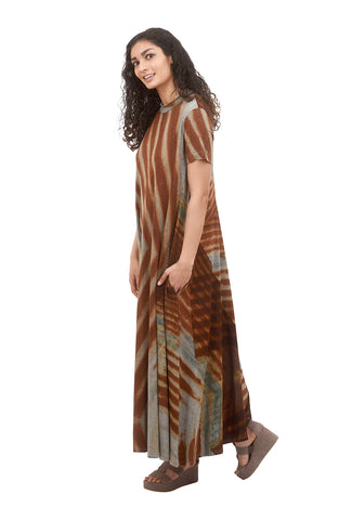 T/9 Graphic Maxi Dress, Orange
