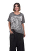 Magnolia Pearl New Boyfriend Tee, Big Wave One Size Gray