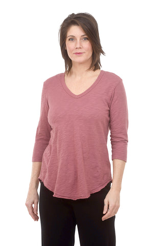 Wilt Raw-Hem Shirttail Tee, Raspberry