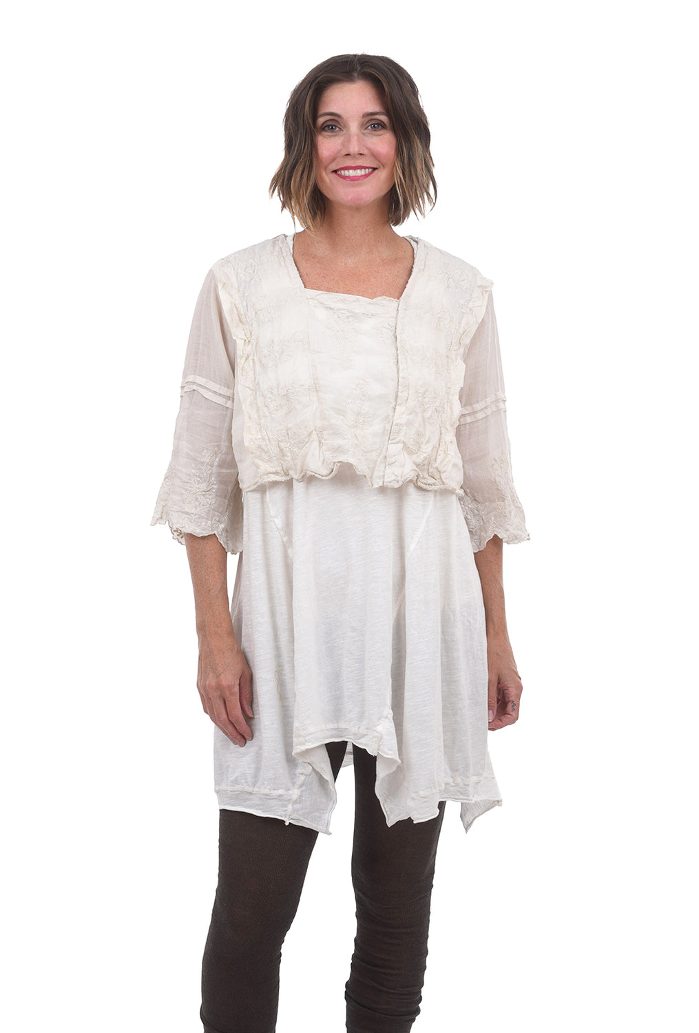 Magnolia Pearl Cropped Grete Blouse, Moonlight One Size Moonlight