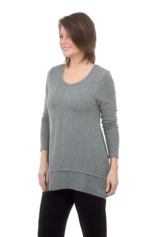 Coin1804 Brushed Cozy Button Back Top, Seafoam