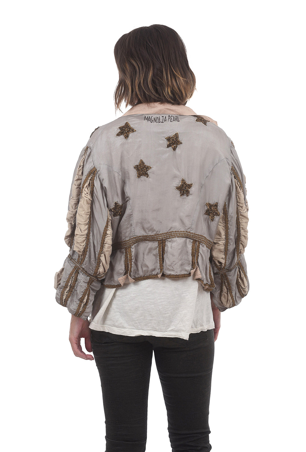 Magnolia Pearl Silk Monique Jacket, Moondust One Size Moondust