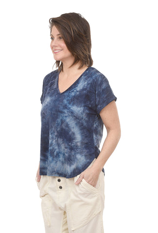 Coin1804 Tie-Dye Rolled Sleeve Tee, Blue Multi