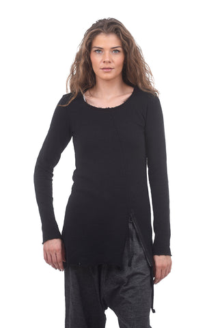 Studio B3 Timido Zip Top, Black