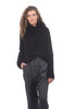 Studio B3 Caro Loose Cotton Sweater, Black One Size Black