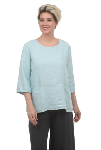 Cut Loose Linen Pocket Pullover, Crystal