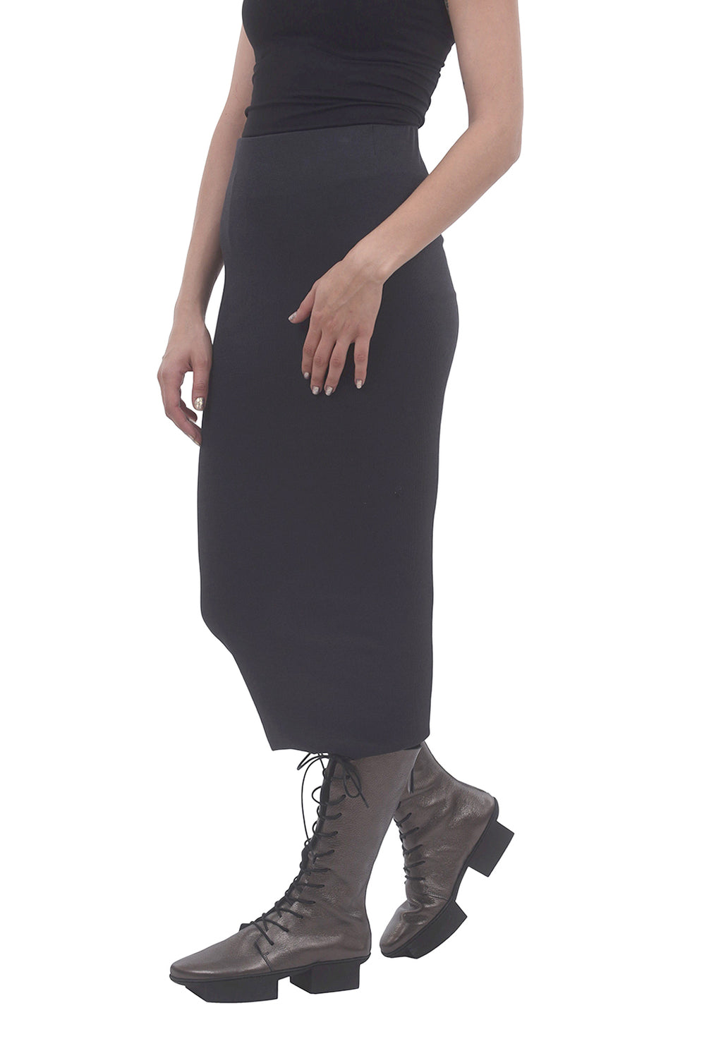 Studio B3 Myra Ribbed Tube Skirt, Graphite