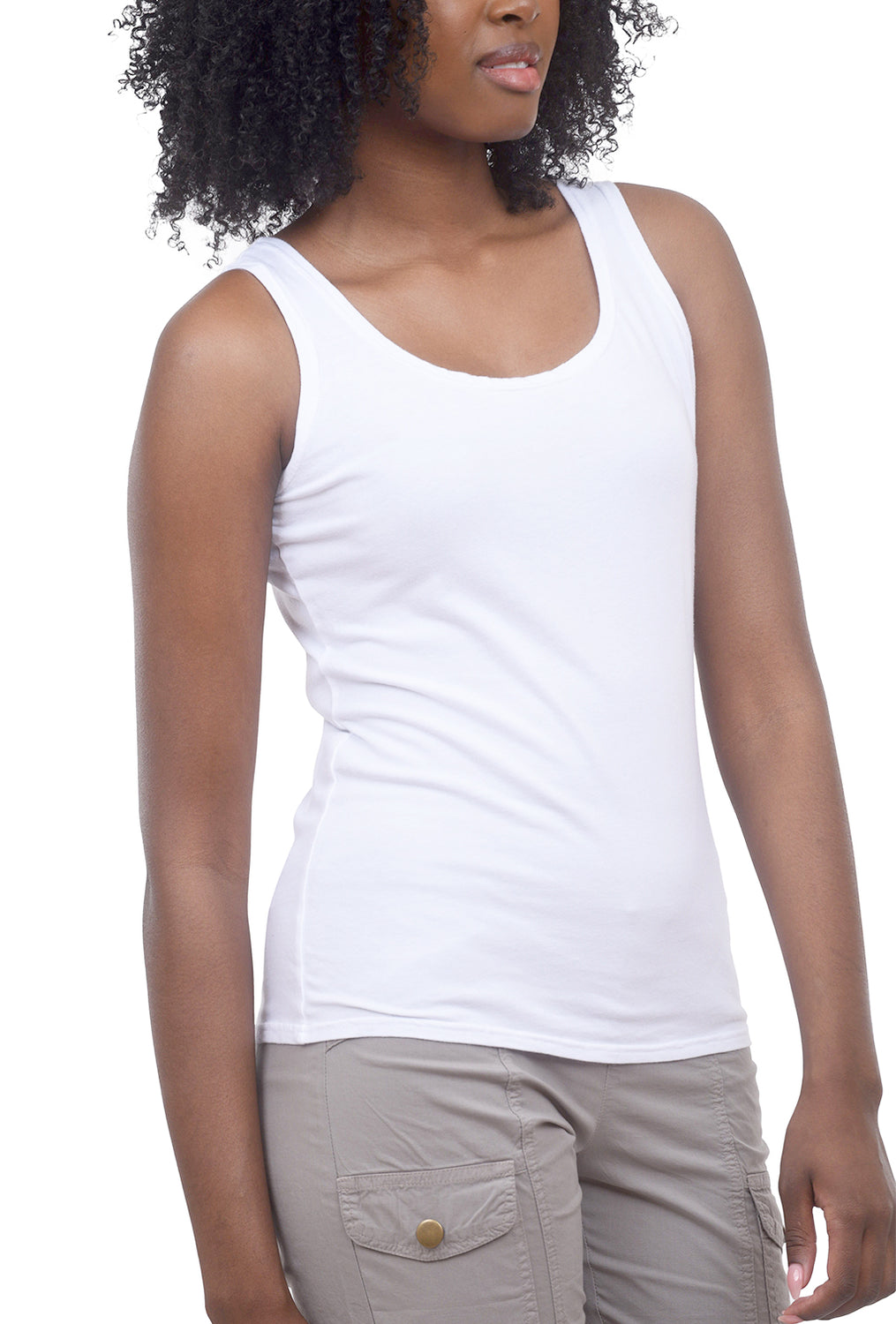 Cut Loose Even Longer Tank, White