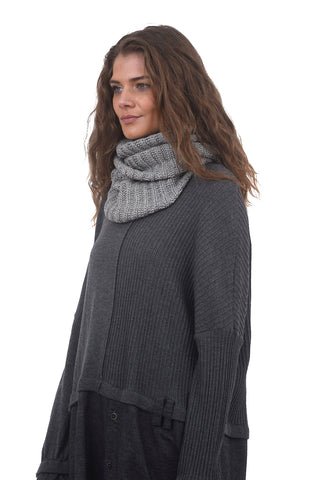Studio B3 Jarro Loose Knit Snood, Light Gray One Size Gray