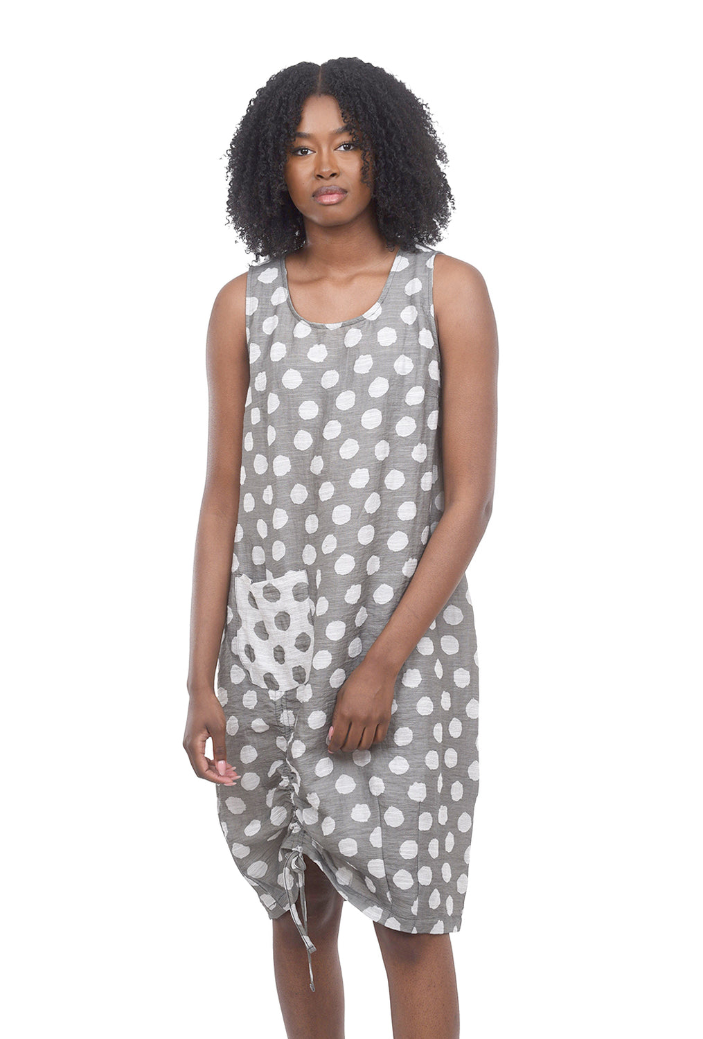 Liv by Habitat Jacquard Dot Heidi Dress, Driftwood Gray