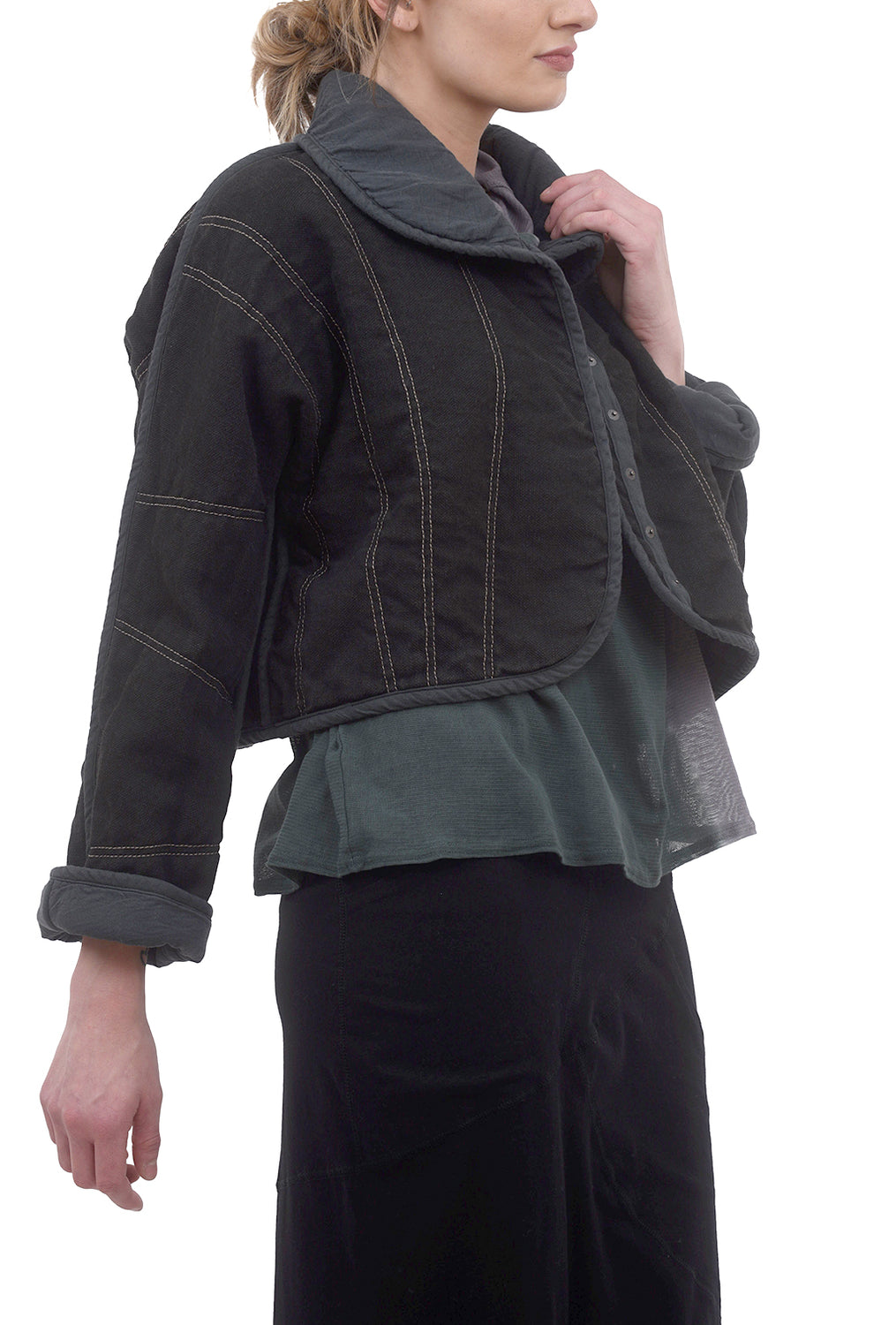Cynthia Ashby Wit Cropped Jacket, Midnight