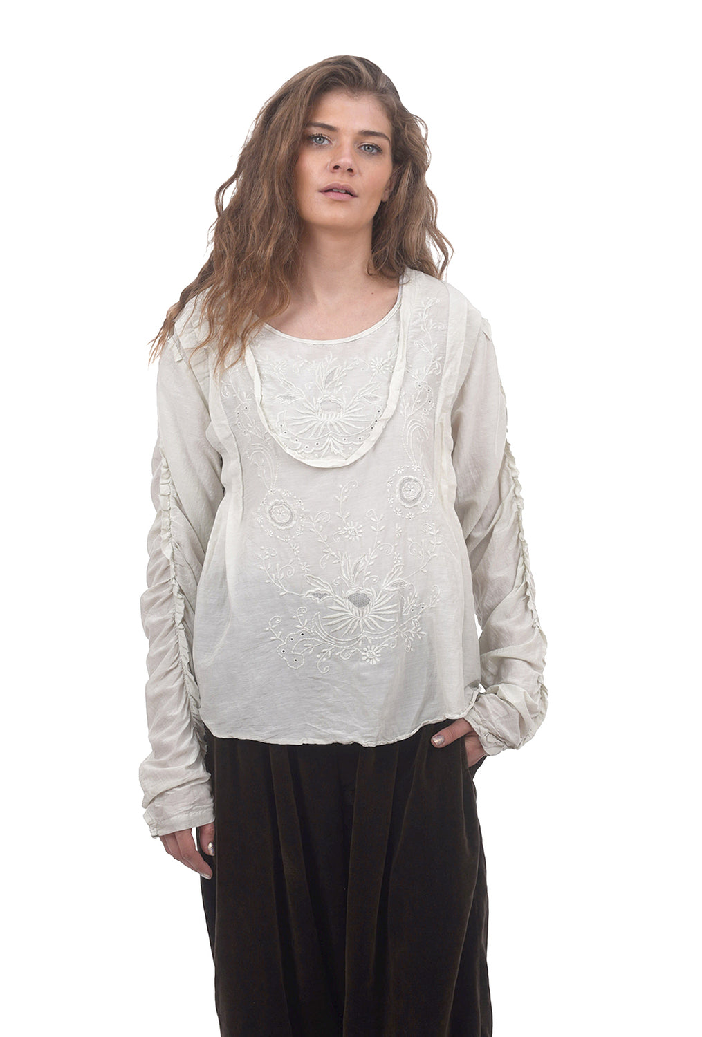 Magnolia Pearl Into the Groove Blouse, Moonlight One Size Moonlight