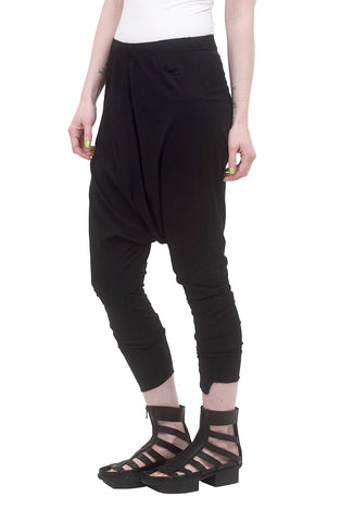 Rundholz Black Label RBL Essential Harem Pants, Black
