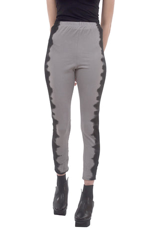 Cynthia Ashby Ombre Trim Leggings, Gray/Black