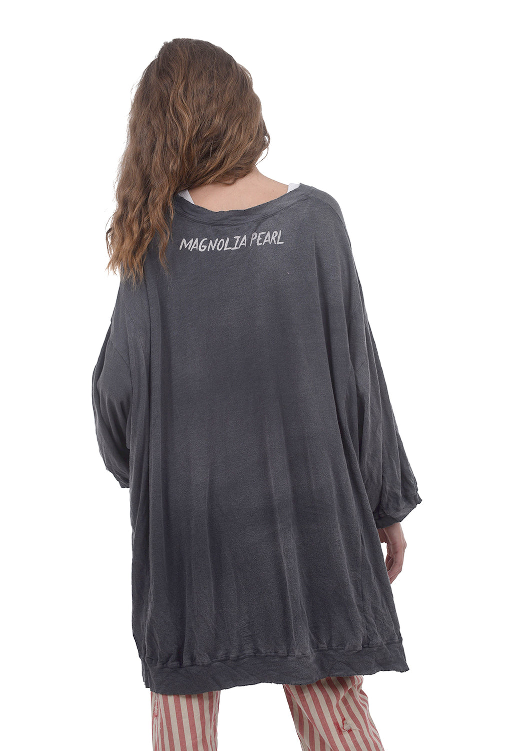 Magnolia Pearl CJ High-Low Francis Pullover, Ozzy Disco One Size Gray