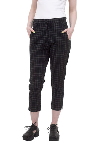 Rundholz Black Label Low-Pocket Trousers, Black Check