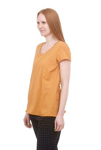 Rundholz Black Label Notch-Neck S/S Tee, Mango