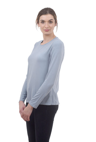 Cut Loose Relaxed Layer Tee, Rain Blue