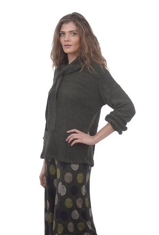 Hello Nite Cozy Sherpa Funnel Neck, Army Green