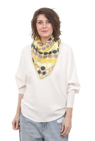 Rising Tide Farah Scarf, Lime One Size Lime