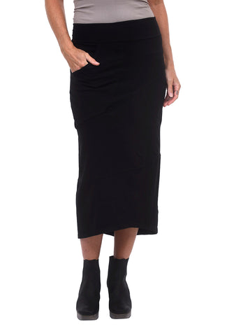 Cynthia Ashby Helix Knit Skirt, Black