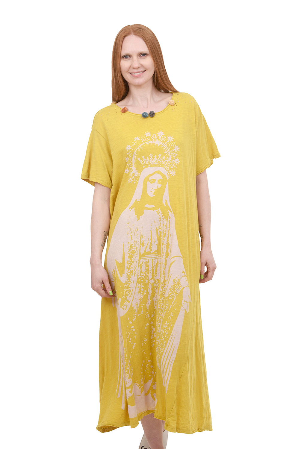 Magnolia Pearl Crown of Our Lady Dress, Pina Yellow One Size Yellow