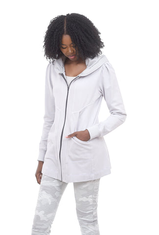 Color Me Cotton Yoke Detail Hoodie, Fog