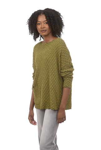 Cut Loose Tonal Jacquard Knit Pullover, Jungle