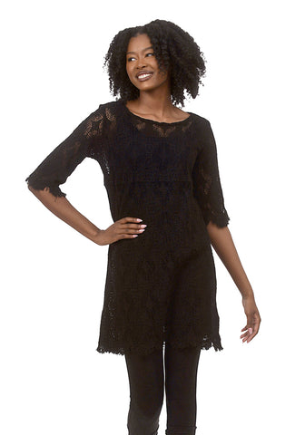 Cut Loose Twiggy Lace Tunic, Black