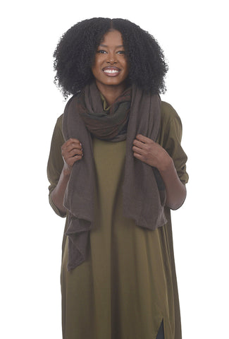 Rundholz Collection Cashmere-Modal Art Scarf, Marone One Size Marone