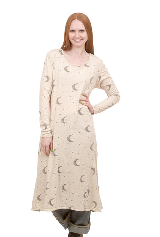 Magnolia Pearl Dylan Tee Dress, Moon & Stars One Size Moonlight