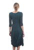 Alquema Crinkled Panelo Dress, Blue Green
