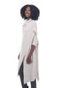 Moyuru Overlap Sweater Dress, Ivory One Size Ivory