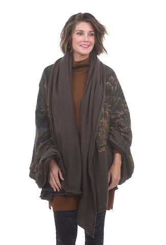 Rundholz Collection Cashmere-Modal Art Shawl, Marone One Size Marone