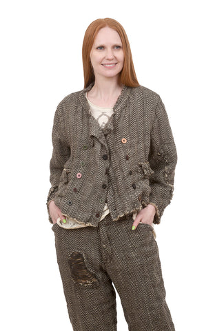 Magnolia Pearl Cropped Declan Jacket, Mathis/Brown One Size Brown