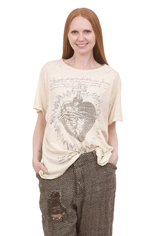 Magnolia Pearl New Boyfriend Tee, Faithful Heart/Moonlight One Size Moonlight
