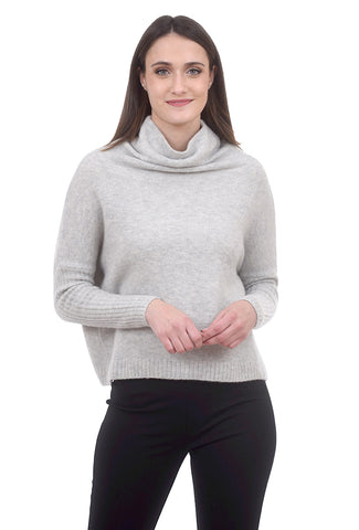 Not Monday Abigail Luxe Cashmere Sweater, Mist Gray