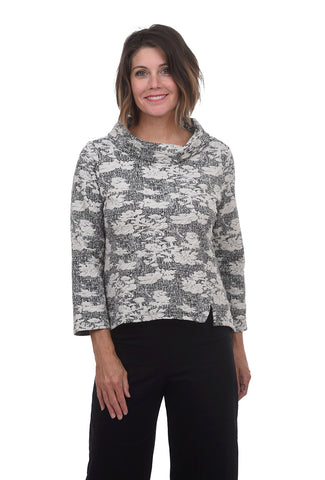 Habitat Clothing Abstract Jacquard Pullover, Putty