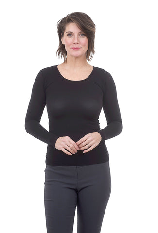 AMB Designs L/S Layer Top, Black One Size Black