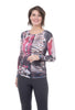 AMB Designs Crew Neck Layer Top, Origins Earth/Pink One Size Pink