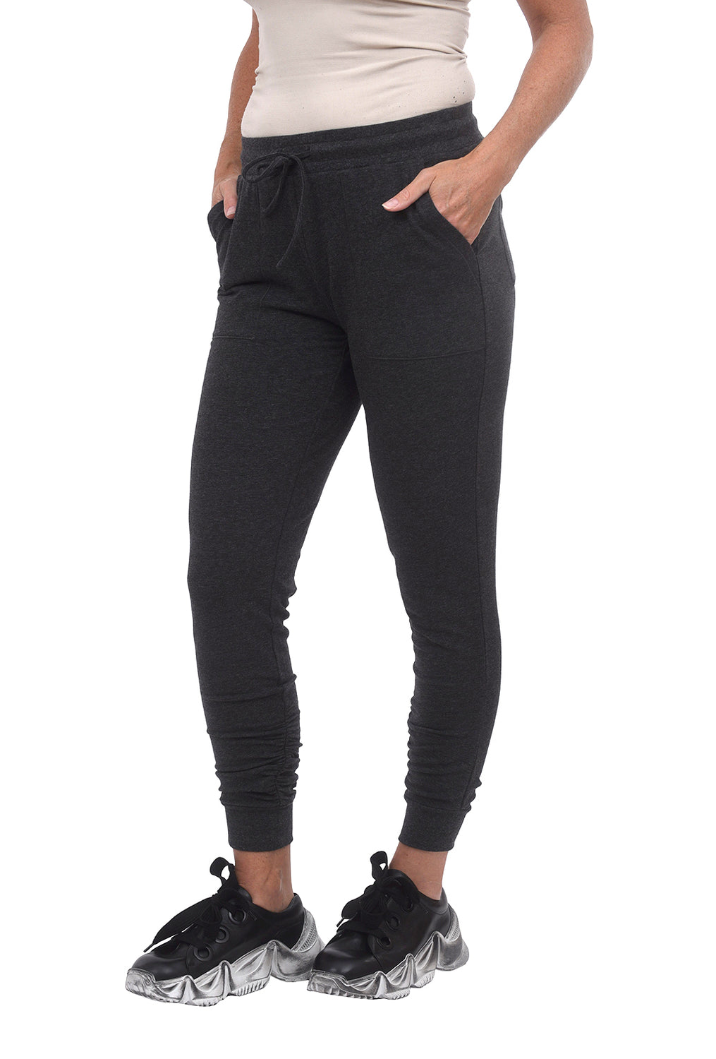 Barefoot Dreams Luxe Lounge Scrunch Jogger, Carbon