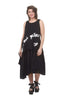 Rundholz Black Label Inset Detail Papercotton Dress, Black Print