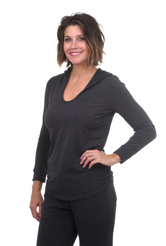 Barefoot Dreams Luxe Lounge Hoodie, Carbon