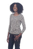 Two Danes Betty Knit Top, Safari/Black