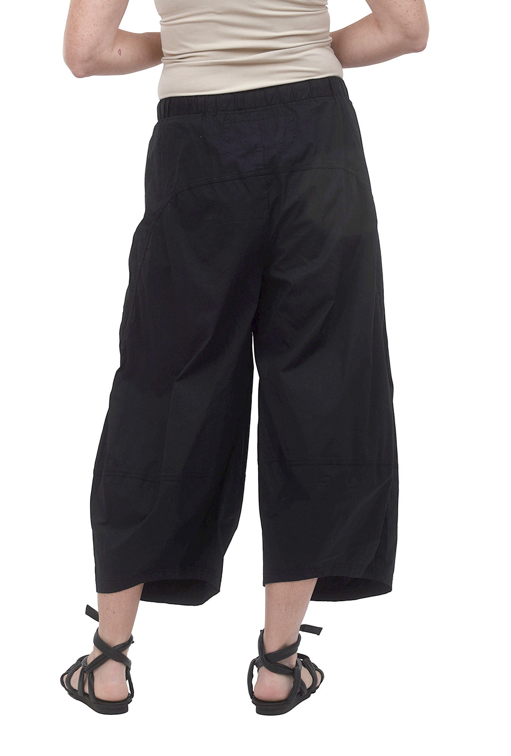 Rundholz Black Label Poplin Stretch Lantern Pant, Black