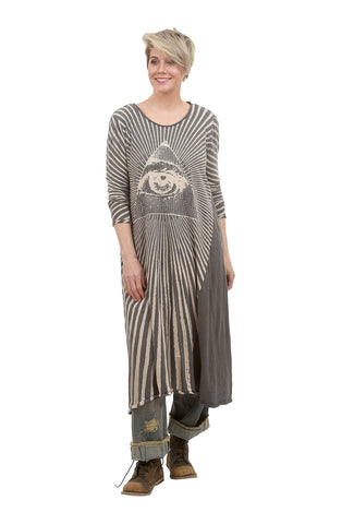 Magnolia Pearl Dylan Tee Dress, Rays For Daze One Size Gray
