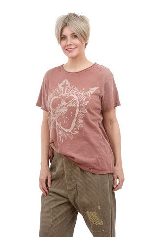 Magnolia Pearl New Boyfriend Tee, Sovereign Heart/Bisou One Size Bisou