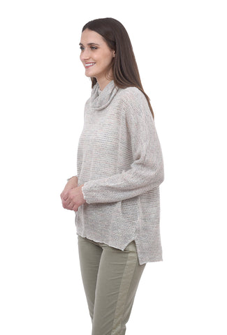 Hello Nite Tunnel Neck Confetti Sweater, Cream