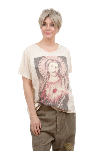 Magnolia Pearl New Boyfriend Tee, Fountain of Mercy/Moonlight One Size